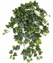 Groene witte hedera helix klimop kunstplant 65 cm voor buiten trend