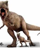 Groot decoratie bord jurassic world t rex 100 x 98 cm trend