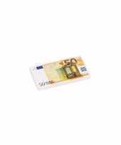 Grote 50 euro biljet gum 13 x 7 cm trend