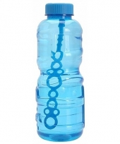 Grote bellenblaas fles blauw 3 liter trend