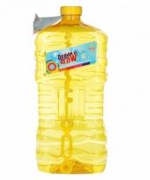 Grote bellenblaas fles geel 3 liter trend