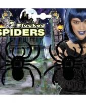 Grote decoratie spinnen 2 stuks trend