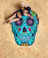 Grote handdoek day of the dead skull 150 cm trend