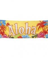 Grote hawaiiaanse spandoek trend