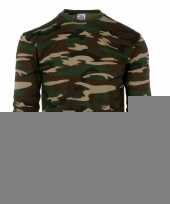 Grote maat camouflage shirt voor heren lange mouw trend