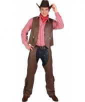 Grote maat cowboy vest en chaps trend