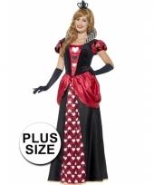 Grote maat feest hartenkoningin verkleedoutfit voor dames trend