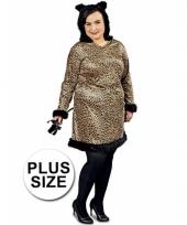 Grote maat feest panter verkleedoutfit voor dames trend