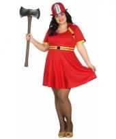 Grote maten brandweer kostuum voor dames trend