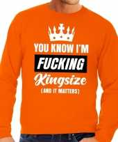 Grote maten fucking kingsize oranje sweater heren trend