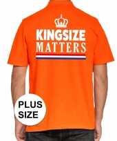 Grote maten kingsize matters poloshirt oranje voor heren trend
