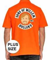 Grote maten koningsdag poloshirt sons of willem oranje heren trend