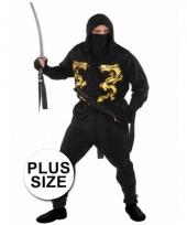 Grote maten ninja kostuum voor heren trend