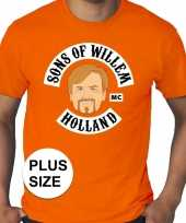 Grote maten sons of willem oranje shirt heren trend