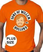 Grote maten sons of willem oranje shirt heren trend