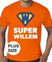 Grote maten super willem oranje shirt heren trend