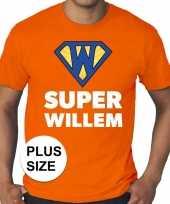 Grote maten super willem oranje shirt heren trend