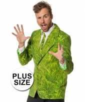 Grote maten verkleedkleding heren maatpak gras trend