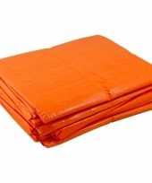 Grote oranje dekzeil van 8x12 meter trend