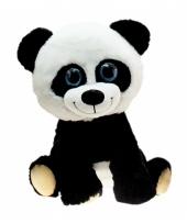 Grote pandabeer knuffel zittend 80 cm trend