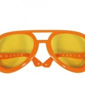 Grote partybrillen in oranje kleur trend