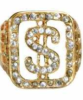 Grote ring goud met diamanten trend