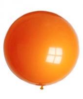 Grote ronde ballon oranje 90 cm trend