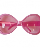 Grote roze feest brillen trend