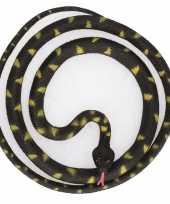 Grote rubberen speelgoed python slangen zwart 137 cm trend