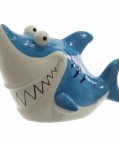 Haaien spaarpot blauw 24 cm trend