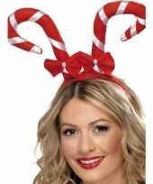 Haarband met kerst zuurstokken trend