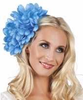 Haarbloem blauwe dahlia met clip trend