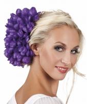 Haarbloem paarse dahlia met clip trend