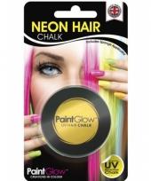 Haarkrijtjes uv geel trend