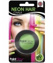 Haarkrijtjes uv groen trend