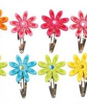 Haarspeldjes met gekleurde bloemen trend