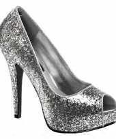 Hakken met zilverkleurige glitters trend