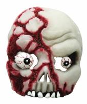 Half schedel masker met ogen trend