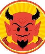 Halloween 10x halloween onderzetters duivel trend