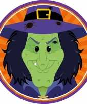 Halloween 10x halloween onderzetters heks trend
