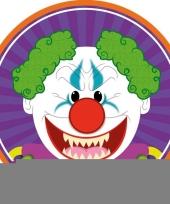 Halloween 10x halloween onderzetters horror clown trend