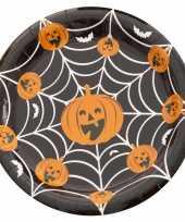 Halloween 10x halloween pompoen bordjes trend
