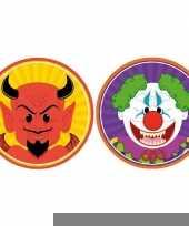 Halloween 20x halloween onderzetters duivel en horror clown trend