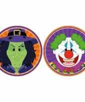 Halloween 20x halloween onderzetters heks en horror clown trend