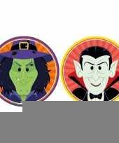 Halloween 20x halloween onderzetters heks en vampier dracula trend
