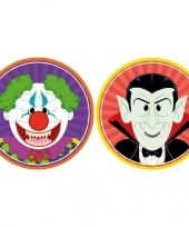 Halloween 20x halloween onderzetters horror clown en vampier dracula trend