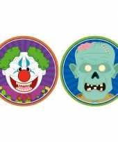 Halloween 20x halloween onderzetters horror clown en zombie trend