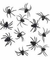 Halloween 24 zwarte decoratie spinnetjes 8 cm trend