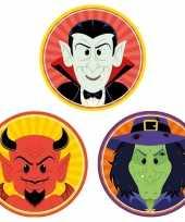 Halloween 30x halloween onderzetters duivel heks vampier trend