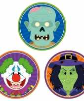 Halloween 30x halloween onderzetters horror clown heks zombie trend